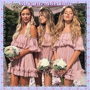 Dresses & Skirts - ✨Pink🆕💗Off Shoulder Mini Ruffle Tutu Dress💖